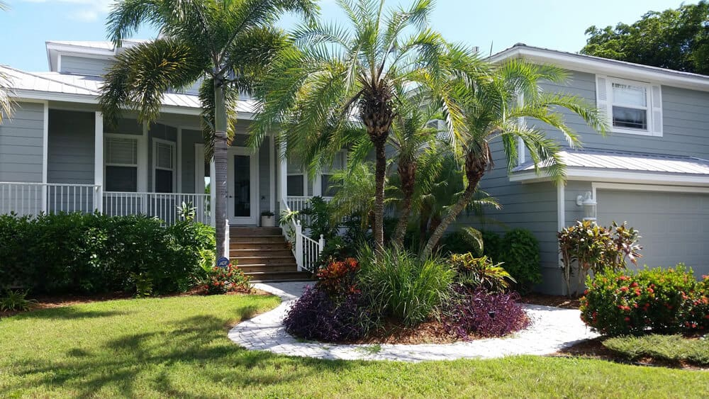 exterior painted grey palms house