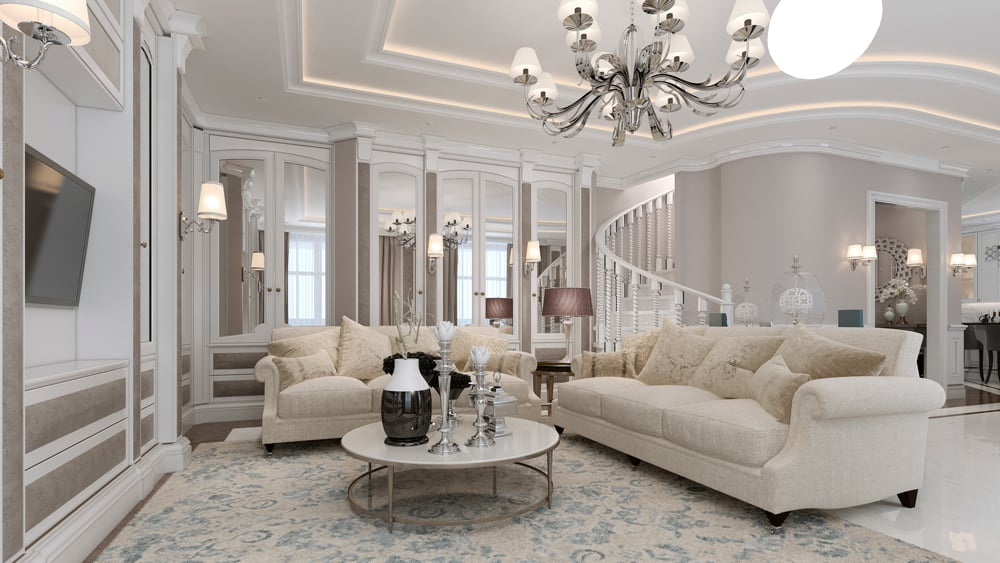 interior painted luxury living room